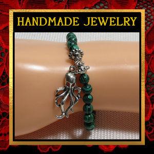 Octopus Green Malachite Bracelet #532